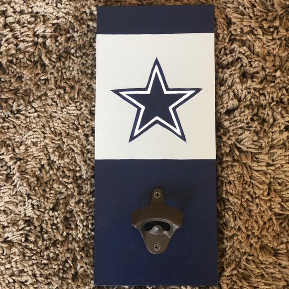 Other - Cowboys hand painted bottle opener
